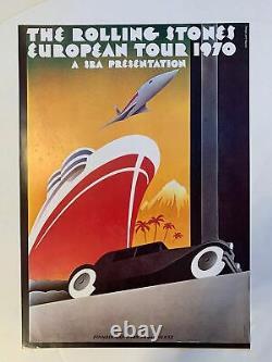 Affiche De Concert De Rolling Stones Vintage Tournée Européenne 1970