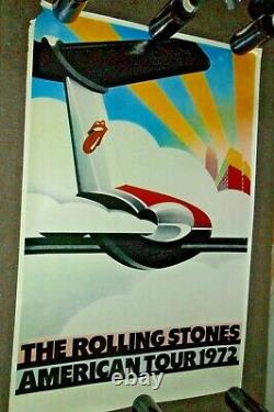 Affiche Vintage The Rolling Stones American Tour 1972 Sunday Productions 1972