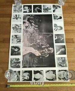 Années 1960 Rare Rolling Stones Vintage Concert Collage Poster 35 X 23.5