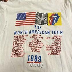Authentic Vintage Rolling Stones 1989 Steel Wheels Tour Concert T-shirt XL