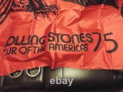 Awesome Rare Vintage 1975 Visite De Concert De Stones De Stones D'americas Banner Serviette