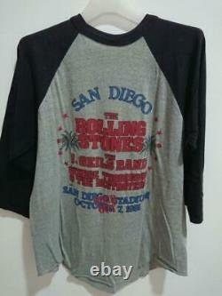 Bande De Pierres Roulantes Vintage 1981 T-shirt 3q Taille L