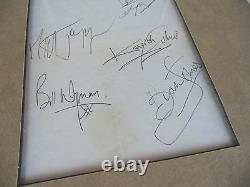 Bande De Rolling Stones Signé 17x31 Affichage Vintage Avec Brian Jones Psa Certifié