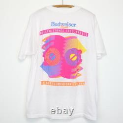 Chemise Rolling Stones Vintage T-shirt 1989 Steel Wheels Tour Rock Band Budweiser