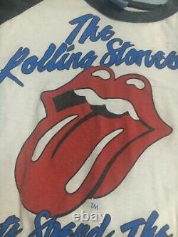 Chemise Vintage Raglan Rolling Stones Band