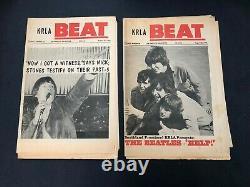 Krla Beat Vtg Music Newspaper Magazine Lot De 18 Beatles Rolling Stones Dylan