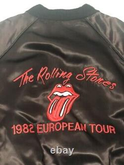 Le Rolling Stones Veste Vintage Original 1982 Tattoo You European Tour Large