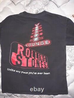 Les Rolling Stones 1994-1995 Voodoo Lounge Langue Chemise Rare Vintage Grand