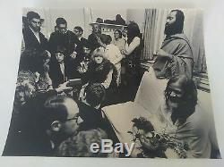 Les Rolling Stones Et Mahesh Yogi, Maharishi Photo Vintage Rare, Signé 1988