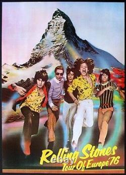 Les Rolling Stones Mick Jagger 1976 Original Vintage European Tour Poster