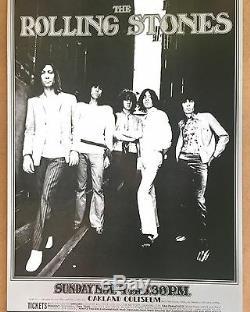Les Rolling Stones Oakland Colliseum Vintage Affiche Originale 1969