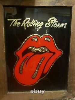 Les Rolling Stones Ont Senti Le Verre Avec La Feuille D'or Derrière Lui, Original De Cru