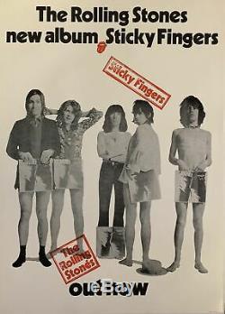 Les Rolling Stones Sticky Fingers Britannique D'importation 2990s Album Affiche Vintage 24