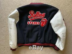Les Rolling Stones Vintage 94 Varsity Jacket Brockum Adult XL Voodoo Lounge Visite