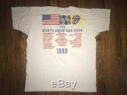 Les Rolling Stones Vintage T-shirt 1989 Steel Wheels Warhol Mens XL Preowned