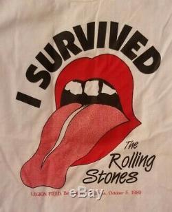 Les Roues Rolling Stones Rare Acier T-shirt Cru I Survécu Legion Champ 89