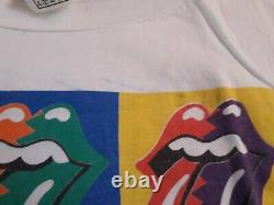 Les Tournes Rolling Urban Jungle 1990 Vintage Eu Tour T Shirt +ticket Lp XL White