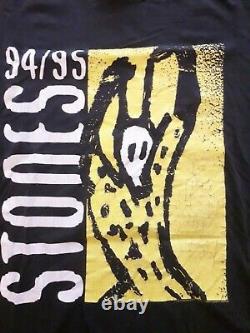 Les Volling Stones Vintage Voodoo Lounge Eu Tour T Shirt XL +ticket! 1995 Jagger