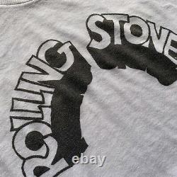 Millésime Des Années 1970 Le T-shirt Rolling Stones Men Sz S 70s Papier Mince Angoissé Années 80