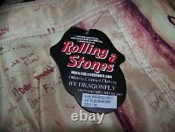 New Vintage The Rolling Stones Beggars Banquet Lp Dragonfly Surf Board Shorts 36