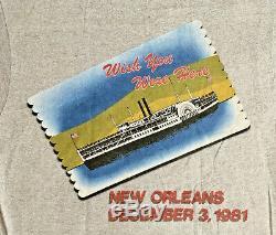 Nos Vtg 80 La Rolling Stones 3 Décembre 1981 New Orleans Tour T- T-shirt Taille S / M