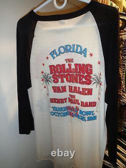 Original Vintage 1981 Les Rolling Stones Live Tour En T-shirt De Concert