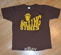 Rare 1970 La Tournée De Concerts Cru Rolling Stones T-shirt (m / L) Mick Jagger