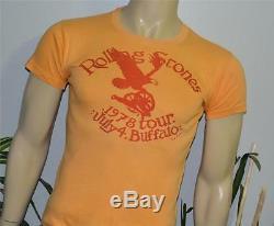 Rare 1978 Shirt Concert De Rock Vtg The Rolling Stones (m) 70 Buffalo Mick Jagger