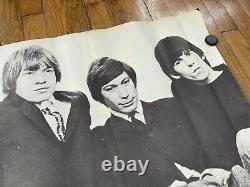 Rare Grande 1966 Vintage Rolling Stones Poster 41inx26in Jagger Classic Rock