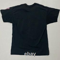 Rare Vintage 1989 The Rolling Stones North American Tour Black Ss T Shirt Années 80