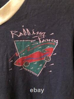 Rare Vintage Rolling Stones T Shirt 1981 Single Stich American Tour V Collier