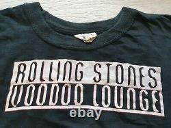 Rare Vintage Rolling Stones Voodoo Lounge European Tour 1994 / 95 T-shirt Noir