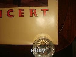 Rare Vintage Ry Cooder Borderline 1980 Warner Bros Enregistrements Promo Poster
