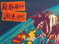 Rare Vtg 1990 Rolling Stones Urban Jungle Europe Tour Lithograph Print Poster