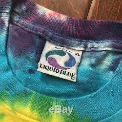 Rare Vtg 1994 Rolling Stones Voodoo Lounge Tie Dye Liquid Blue T-shirt XL Etats-unis