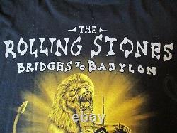Rare90sles Rolling Stones 1998 Bridges To Babylonnyc Msg Twin Towerst-shirt