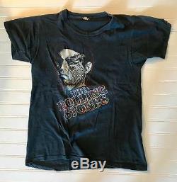 Rolling Stones 1981 Tattoo Vous Tournée De T-shirt Original Très Rare