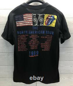 Rolling Stones 1989 North American Tour Vintage Grand Printemps Ford USA Chemise