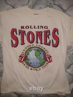 Rolling Stones 1994-95 Voodoo Lounge Chemise Rare Vintage Grand