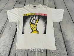Rolling Stones 90s Vintage Brockum Voodoo Lounge Thrashed Tour T Shirt Sz XL