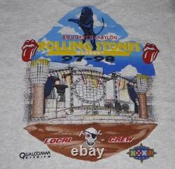 Rolling Stones À Bridges Babylon 97/97 Crew Locale Grand Noir T-shirt Vintage