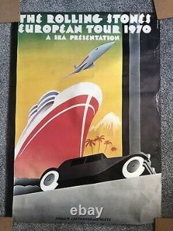 Rolling Stones European Tour 1970 Affiche Vintage