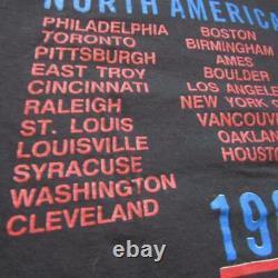 Rolling Stones Large 1989 Nord American Vintage Concert Tour Shirt Steel Wheel Wheels