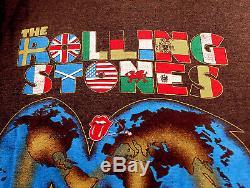 Rolling Stones Original Tournée Mondiale 81-82 T-shirt Vintage Bon État