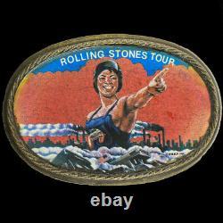 Rolling Stones Quelques Filles Tour Rare Kiss Langue Jagger 70s Ceinture Vintage Boucle