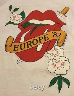 Rolling Stones Shirt Europe Vintage 1982 Concert Tour Rare Allemagne