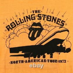Rolling Stones Shirt Vintage T-shirt 1972 Exile On Main Tournée Rock N Roll