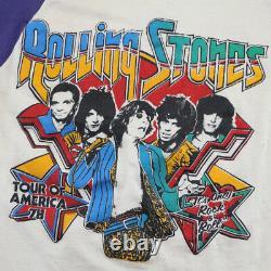 Rolling Stones Shirt Vintage T-shirt 1978 Visite Du Jersey Amériques Rock Band