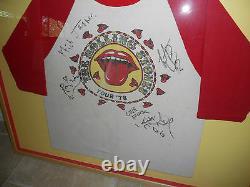 Rolling Stones Signé Tour Vintage Autographié Chemise Psa Certifié Mick Keith +2