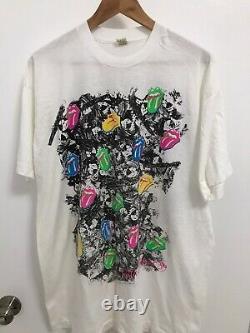 Rolling Stones Steel Wheels 1989 Tournée De Concerts Vintages De T-shirt